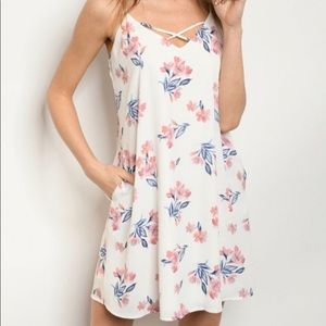 Dresses & Skirts - Ivory Floral Dress